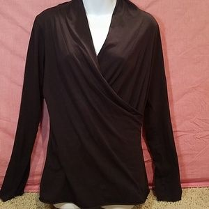 Black stretchy knit top by Velvet XL